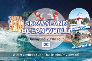 Daemyung Resort Ocean World+Snowyland 2D1N Package